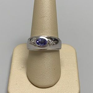 Jewelry - 14K White Gold Tanzanite and Diamond Ring